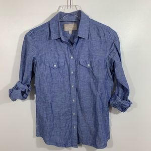 Banana Republic Soft Wash Linen Blend blouse S